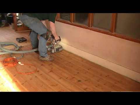 Sanding And Oiling A Wooden Pine Floor Dust Free Youtube