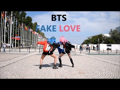 BTS (방탄소년단) 'FAKE LOVE' dance cover in public by GOLD
