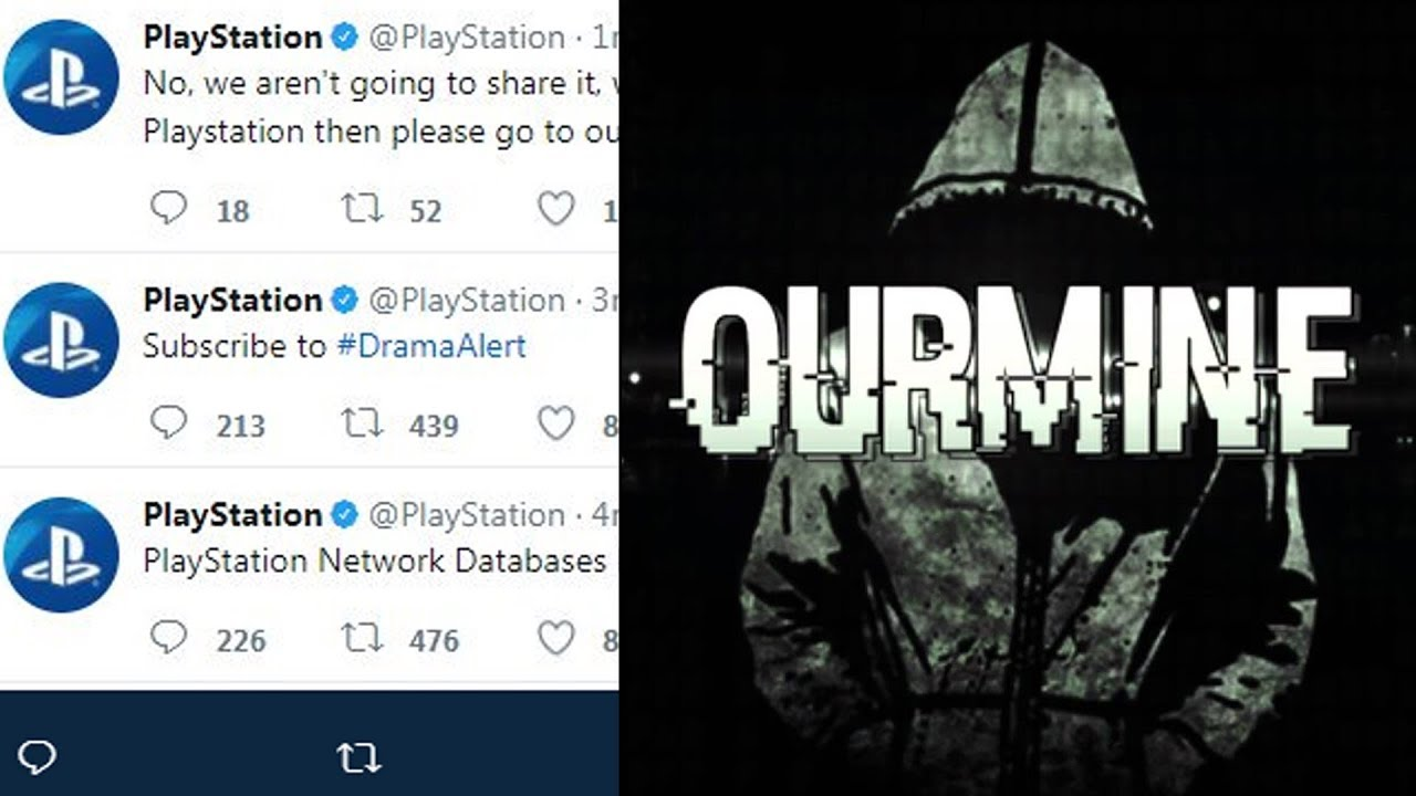 PlayStation Network Database Hacked by #OurMine - PS Twitter & Facebook  Hack by OurMine!