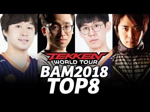 BAM 2018 TEKKEN7 TOP8 (TIMESTAMP) Knee Nobi JDCR Saint JeonDDing Dimeback Kkokkoma Gura