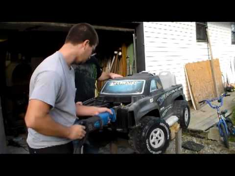 Power Wheels converted to car battery powered - YouTube