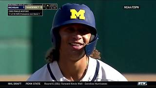 Highlights: Michigan One Win Away From College World Series Title   B1g Baseball