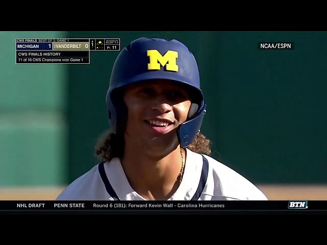 Highlights: Michigan One Win Away from College World Series Title | B1G Baseball