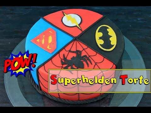 Superhelden Torte Geburtstagstorte Selber Machen Superman