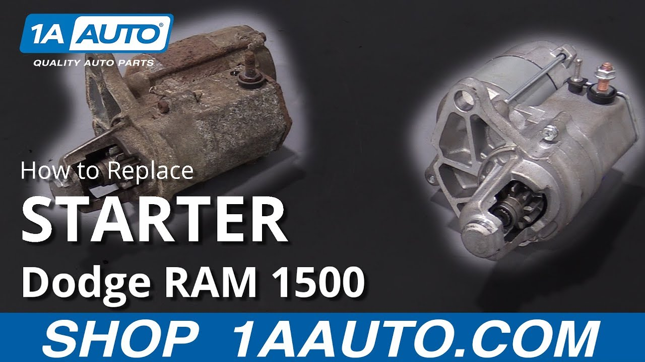 How To Replace Starter 94 02 Dodge Ram 1500 Youtube