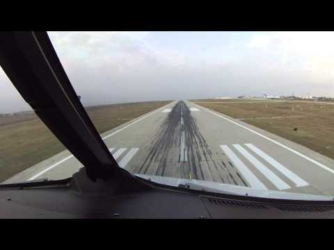 A320 Bird-Strike on Landing - Burgas Int'l Airport, Bulgaria. Cockpit View.