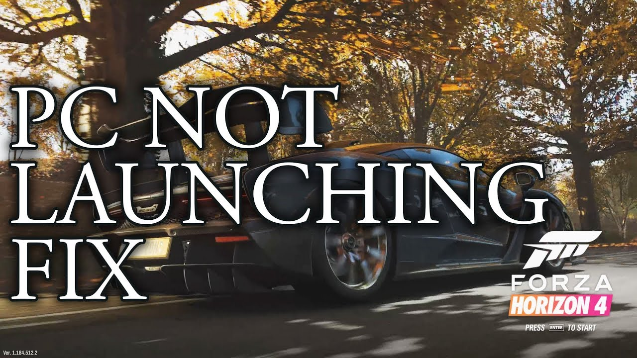Forza Horizon 4 PC Launch Fix