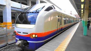 〔4K UHD|cc〕JR東日本・信越本線:新潟駅、E653系/特急『しらゆき号』出発シーン。