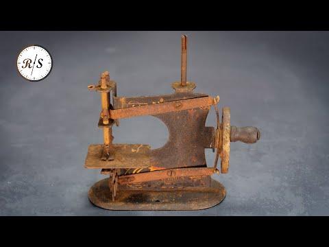 Antique Toy Sewing Machine Restoration