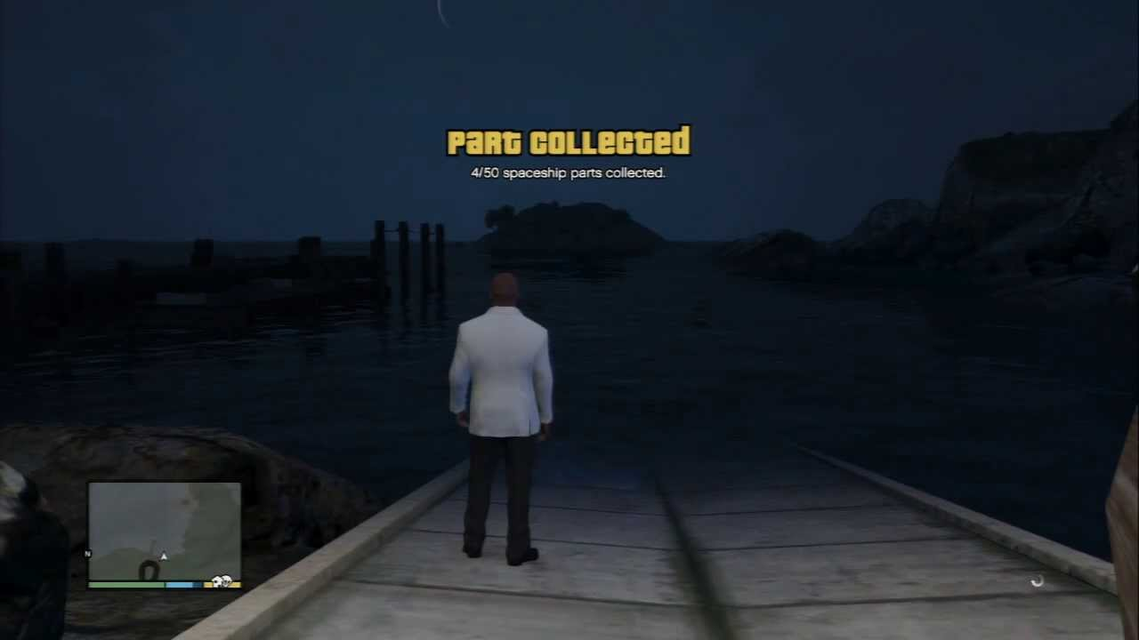 Grand Theft Auto V - Spaceship Parts Locations / Collectibles: #4 Pier  Dock, Boat HD Gameplay PS3