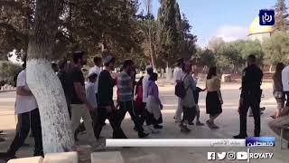 الاحتلال يخلي المصلين من باحة مصلى باب الرحمة في المسجد الأقصى  (14/10/2019)
