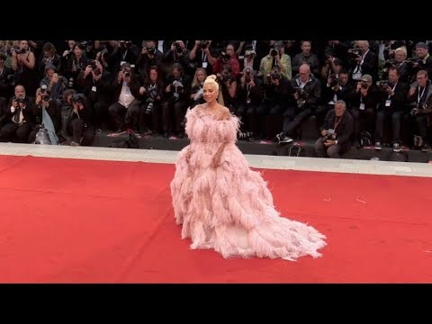 Lady Gaga stuns on the red carpet for the Premiere of A Star is Born at the Venice Film Festival