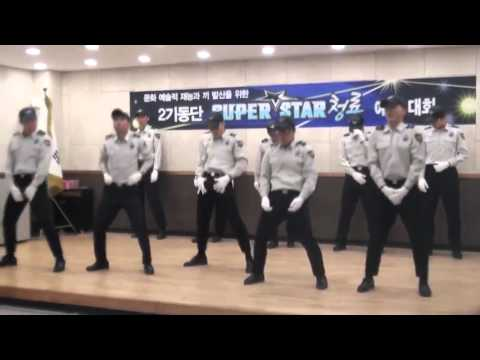"""Korean police dancing to Big Bang's """"Bang Bang Bang (뱅뱅뱅)"""
