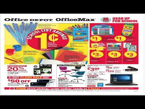 Office Max School Supply Deals Wk. of 8/14-More $.01 Items!