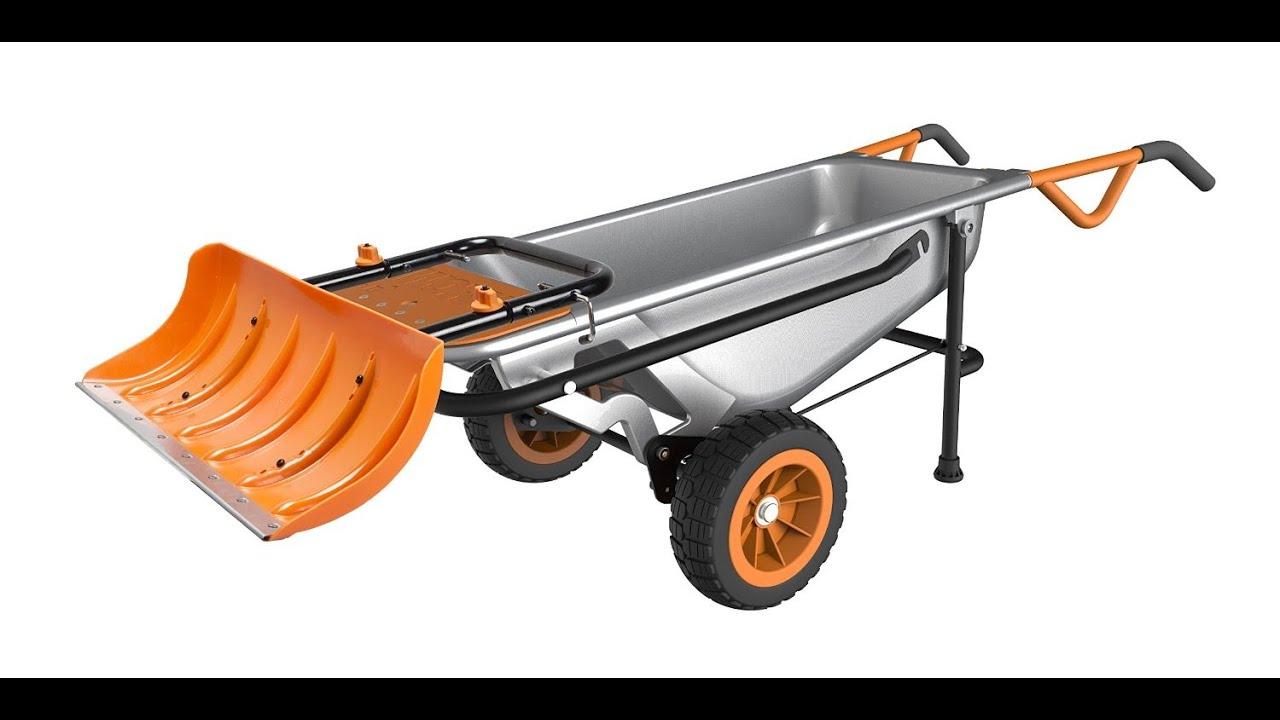 Review Worx Wa0230 Aerocart Snow Plow
