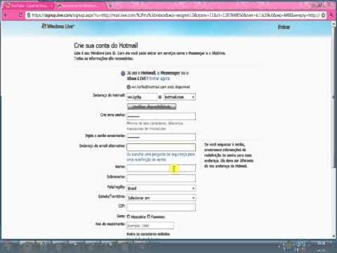 como criar email hotmail - photo #26
