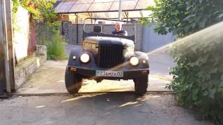 ГАЗ-69 с двигатлем 1-KZ первый выезд на дорогу. 4 июня 2016 г.