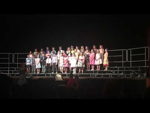"East Rochester Elementary School 3rd Grade chorus sings ""Spring in My Step"""