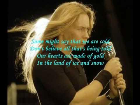 The land of ice and snow lyrics stratovarius