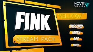 Animated Fortnite Overlay Twitch Pack • Fink Yellow • MoveGraph