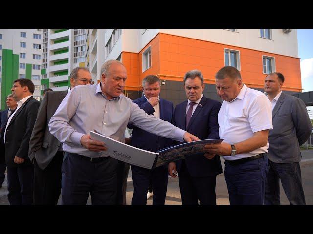 Город Спутник посетили первые лица Саратова