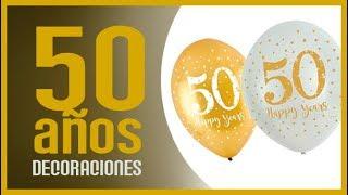 """🎇 DECORACION 50 AÑOS 🎇 I 2019 """"dorado"""" """"oro"""" """"bodas"""" """"50 años"""""""