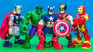 MARVEL AVENGERS  Marvel Avenger Ironman, Captain America 5 Pack Avenger Video Review