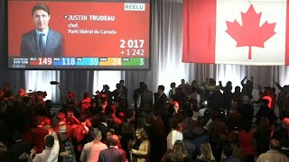 Liberal supporters react as Canada's Trudeau set to hold onto power | AFP