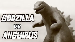 Godzilla vs Anguirus | Kaiju Claymation Fight
