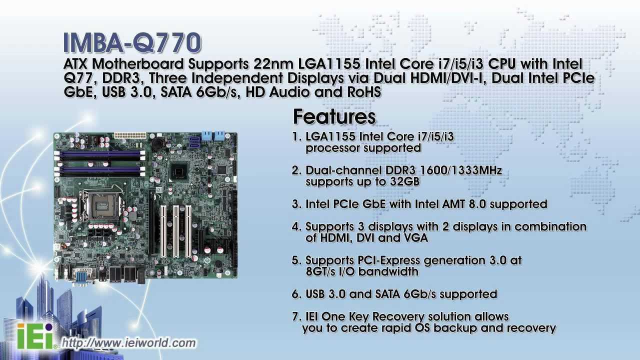 2012 3rd Generation Intel® Core™ Processor with Intel® Q77 Chipset Series