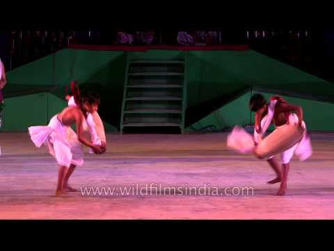 Spinning clockwise and anti-clockwise in Pung Cholom of Manipur