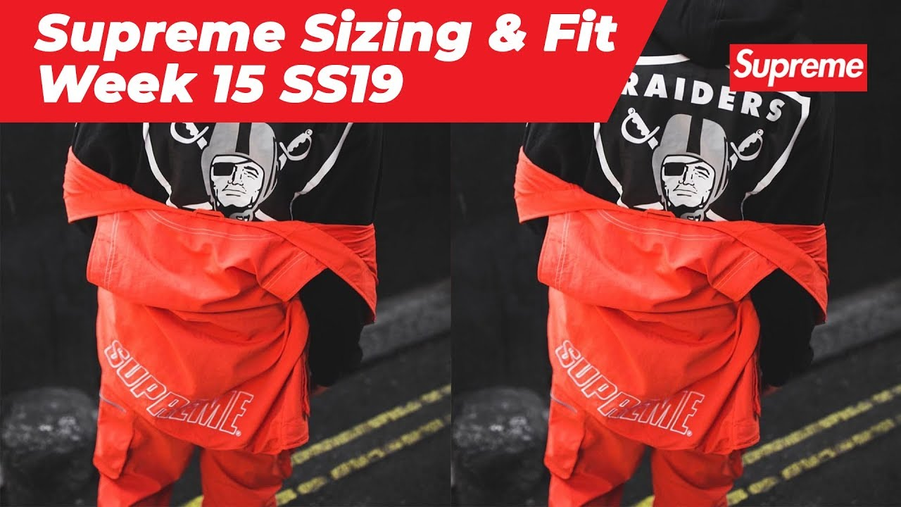 Supreme Sizing & Fit Guide: Week 15 SS19 Supreme Nylon Cargo Vest