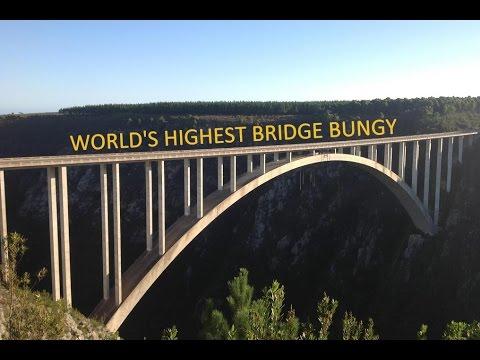 The world's highest bridge bungee jump - Bloukrans Bridge, South Africa (216 Meter)