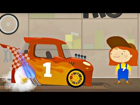 Animated series. Doctor McWheelie and Racing car. Car games and Animation for kids.