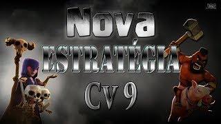 Clash of Clans - NOVA ESTRATÉGIA COM BRUXAS PARA CV9 - NÃO É SPAM!!!