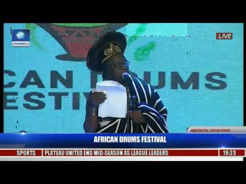 Tar Udoh (Representing Minister Of Culture & Tourism) At African Drums Festival