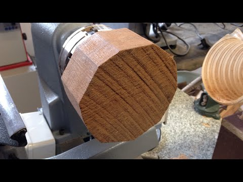 Woodturning - Teak bowl part one