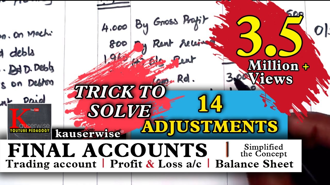 Final Accounts With 14 Adjustments Simple Logic With