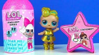 Ultra seltene LOL Puppe LOL Jewellery 8 Überraschungen Schmuckkapsel LOL Stationery Stern unboxing