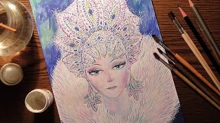 Снежная королева. Акварель. / Snow Queen. Watercolor.(Снежная королева. Акварель. / Snow Queen. Watercolor. VK - http://goo.gl/wi2yoY Google + - https://goo.gl/N7uz9P Facebook - https://goo.gl/W45pQ4 Twitter ..., 2014-01-21T16:10:35.000Z)