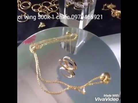 Nhẫn lông voi vàng 500k 1 chiếc.dây chuyền vàng tim 1tr400k.mọi người  đặt hàng lh 0979465921
