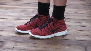 NIke - Lunar Flyknit Chukka (Deep Burgundy / Red / Black) - Quick Review + On Feet