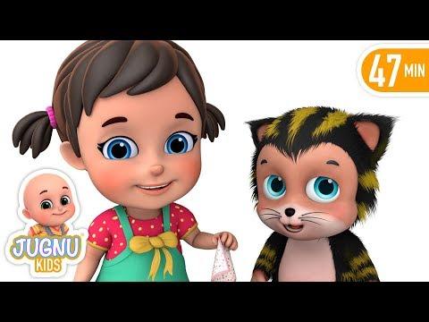 Meri Billi Kali Pili - मेरी बिल्ली - Billi Mausi - Hindi Nursery Rhymes For Children By Jugnu Kids