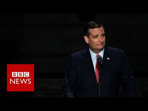 Ted Cruz booed for failing to back Donald Trump - BBC News