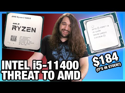 $184 Threat to AMD: Intel i5-11400 CPU Review & Benchmarks vs. R5 3600, 5600X, 11600K