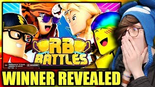 🔴 RB BATTLES FINALE - WINNER REVEALED!! | ⚔️ Roblox RB Battles Championship | 1 Million Robux Prize
