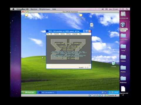 Commodore 64 on Windows XP on Mac OS X via Virtualbox