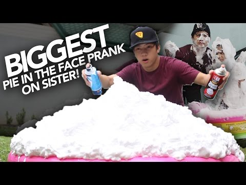 BIGGEST PIE FACE PRANK ON SISTER | Ranz and Niana
