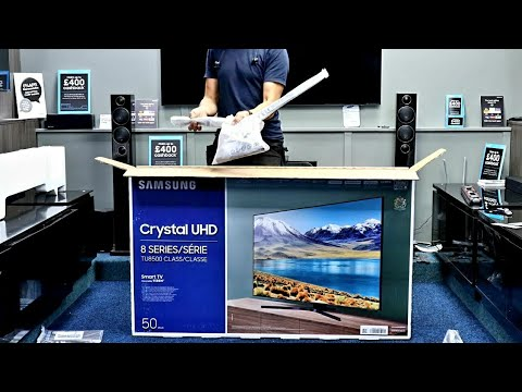 "Samsung 2020 TU8500 50"" 4K TV Unboxing, Setup and 4K Demo Videos"
