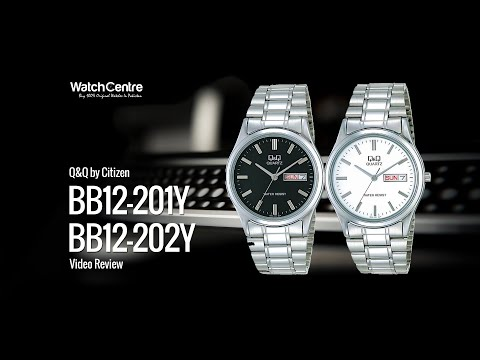 Q&Q BB12-202Y & BB12-201Y Slim Dial Stainless Steel Watch Review